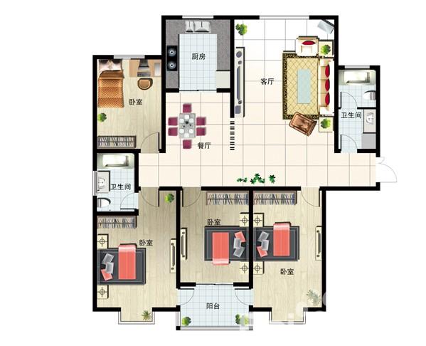 195㎡ 4室2厅