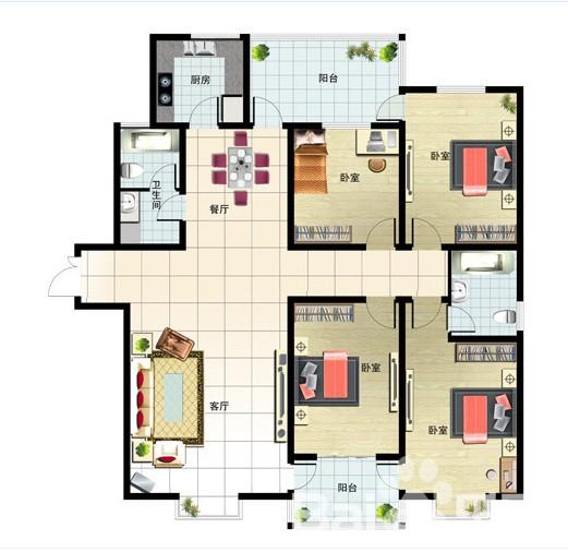 202㎡ 4室2厅