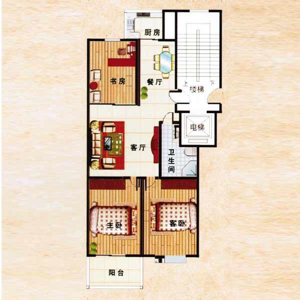 110㎡ 3室2厅