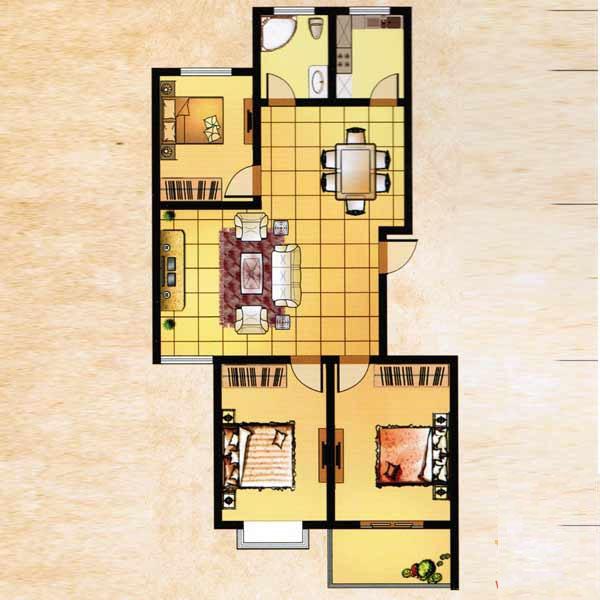 131㎡ 3室2厅