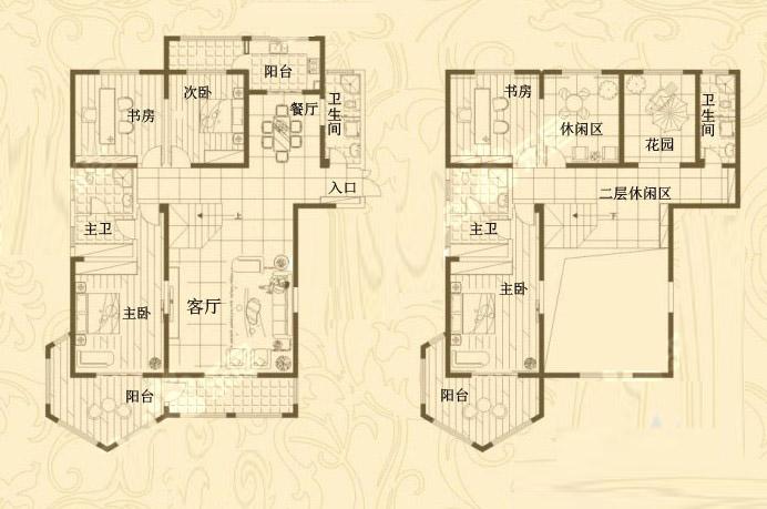 1# 复式 374㎡ 6室3厅