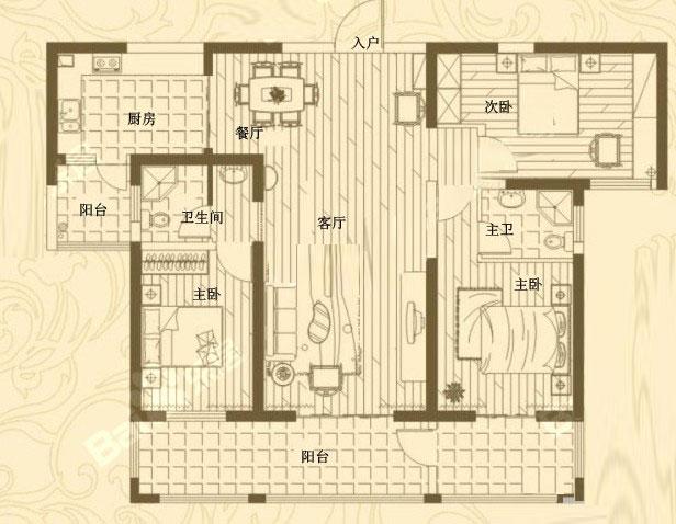 1# 159㎡ 3室2
