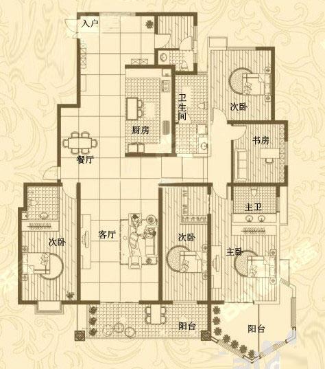 2# 297㎡ 4室2厅