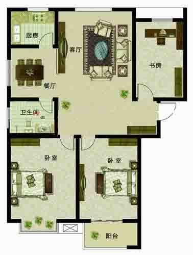 静雅三居3室2厅138.47㎡