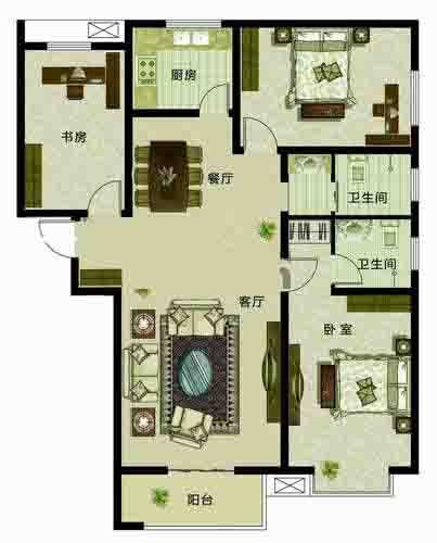 尊崇三居3室2厅148.23㎡