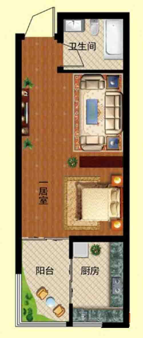 1室1厅 34㎡副本