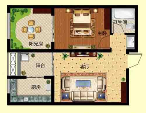 3室2厅 114㎡