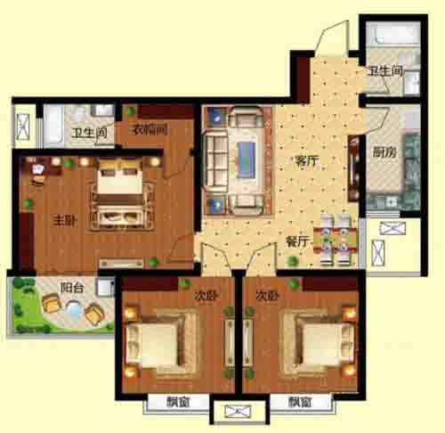 3室2厅 139㎡