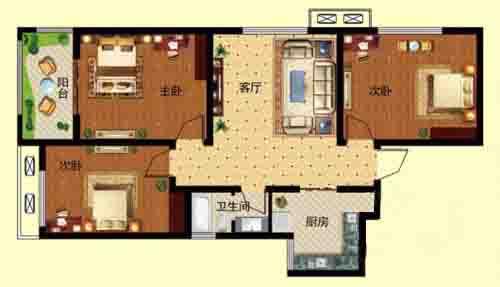 3室2厅 101.58—107.37㎡