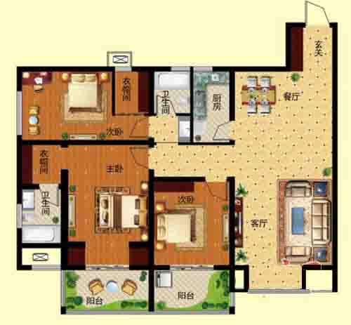 3室2厅 138.99—147.99㎡