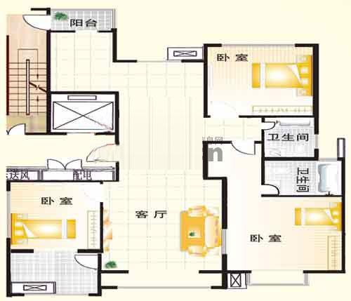 A户型 142㎡ 3室2厅