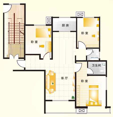B1户型 138㎡ 3室2厅