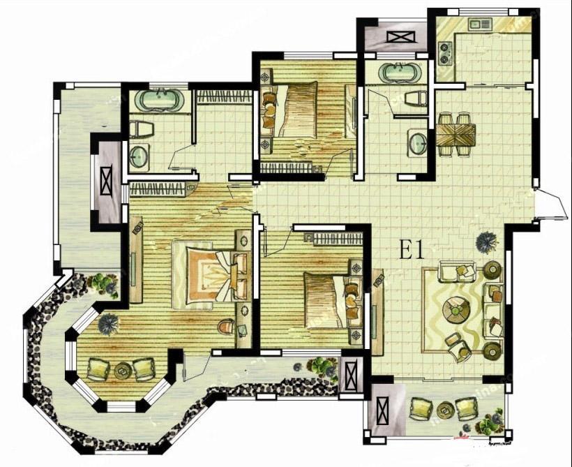 5#E1 三室两厅两卫