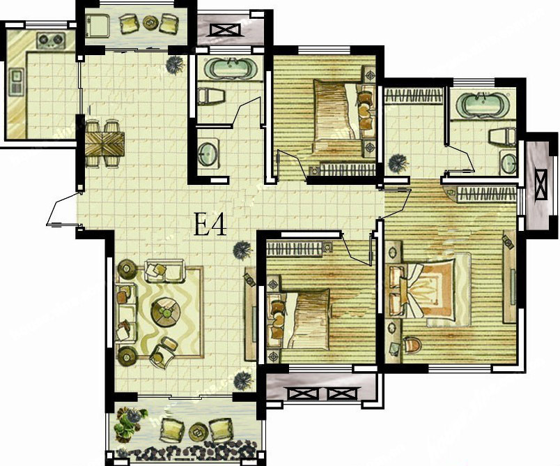 5#E4 三室两厅