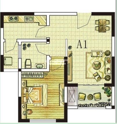 A1 一室一厅一厨一卫.jpg