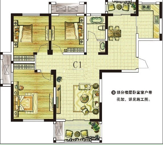 C1 三室两厅