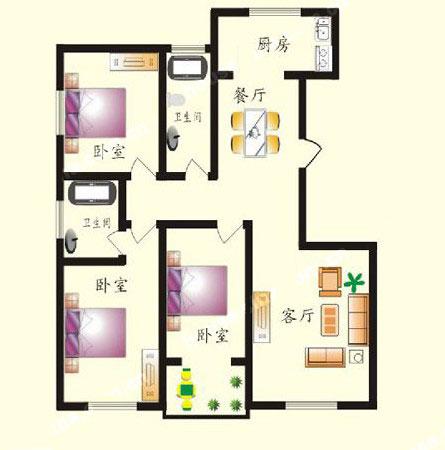 3# B户型 143㎡ 3室2厅