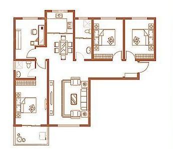 C户型 140.69㎡ 4室2厅