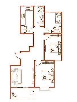 I户型 115.9--121.53㎡ 3室1厅