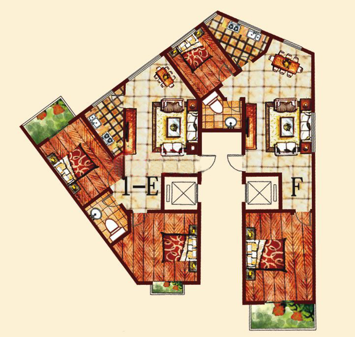 1-E1-F 3室2厅 108-111.04㎡
