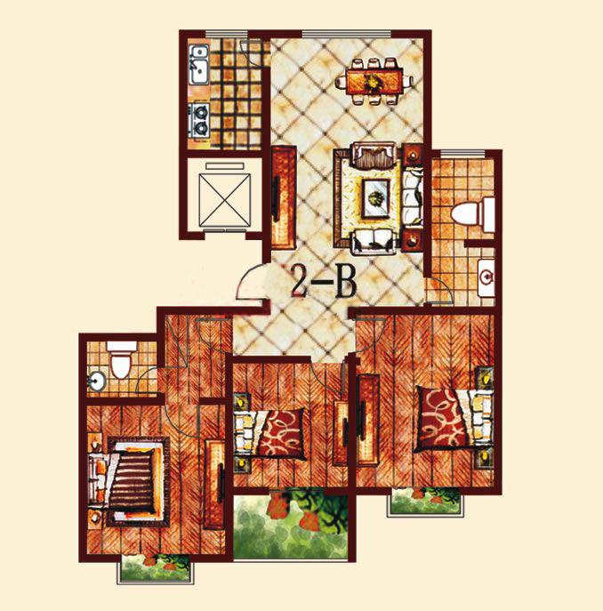 2-B 3室2厅 137.41㎡