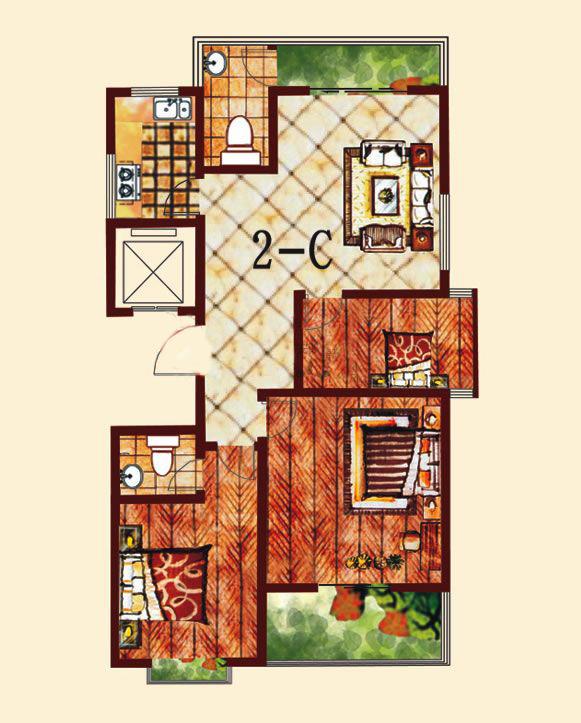 2-C 3室2厅 136.12㎡