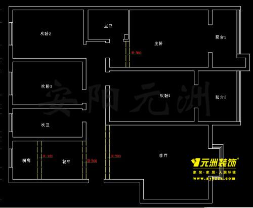7# 180㎡ 4室2厅