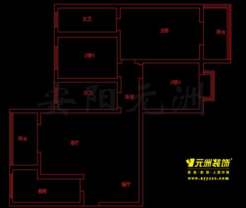 136㎡ 3室2厅