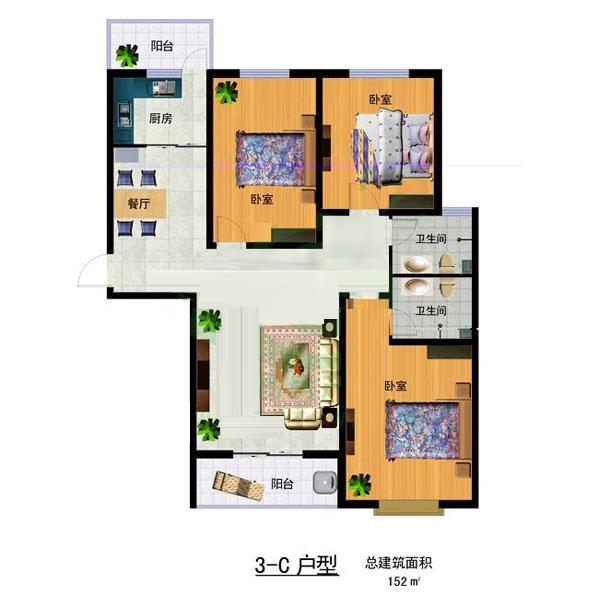 3-C 152㎡ 3室2厅