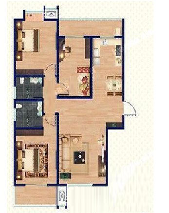 A1 113㎡ 3室2厅