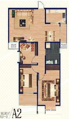 A2 99.90㎡ 3室2厅