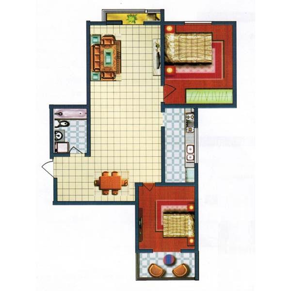 110.78㎡ 2室2厅