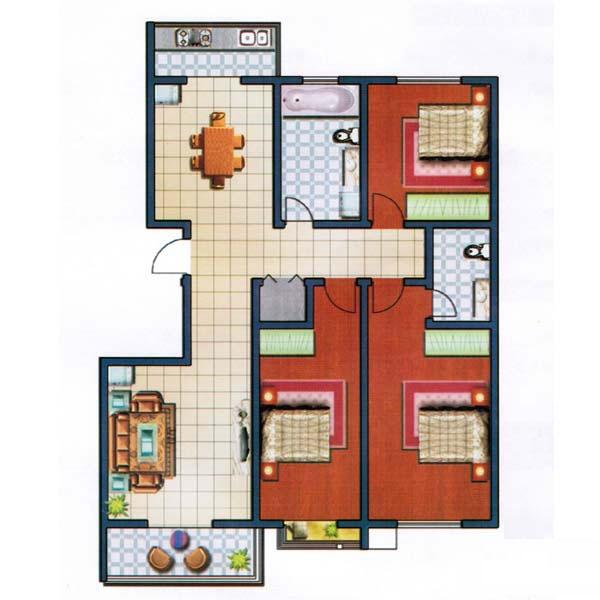 D 153㎡ 3室2厅