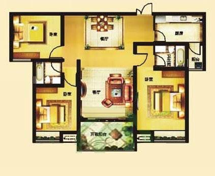 B 126㎡ 3室2厅