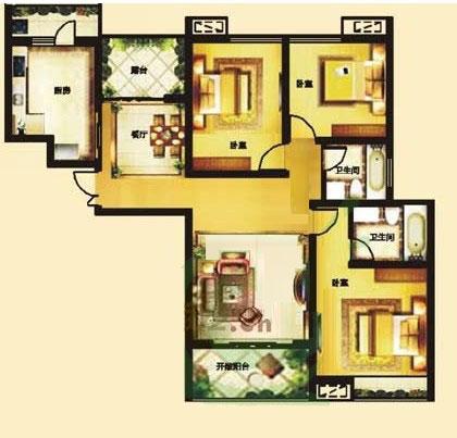 C 145㎡ 3室2厅