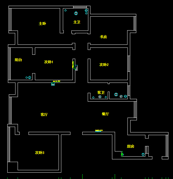 户型五  五室两厅