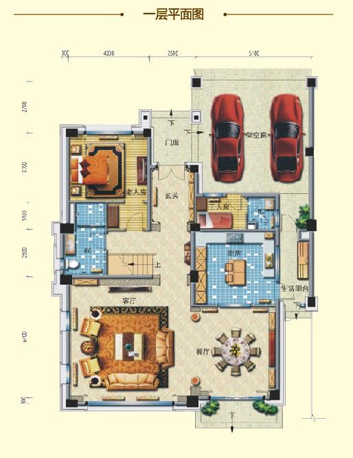 钻石墅 六室两厅 483㎡