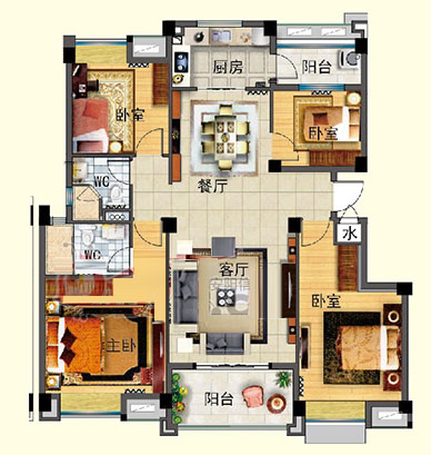 J642-A  四室两厅 141㎡