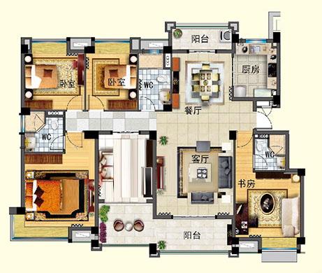 J642-B 五室两厅 184㎡