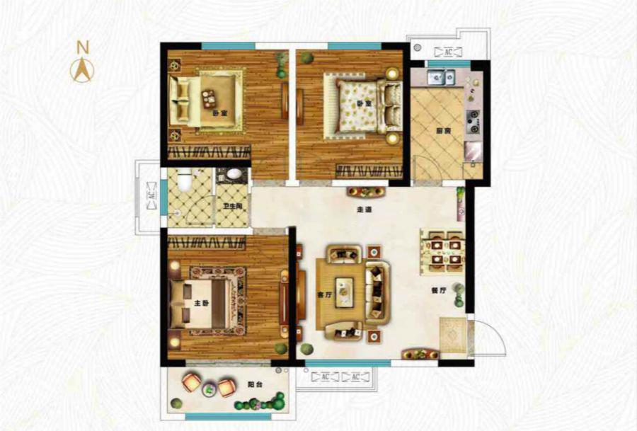 三室两厅一卫105.05㎡