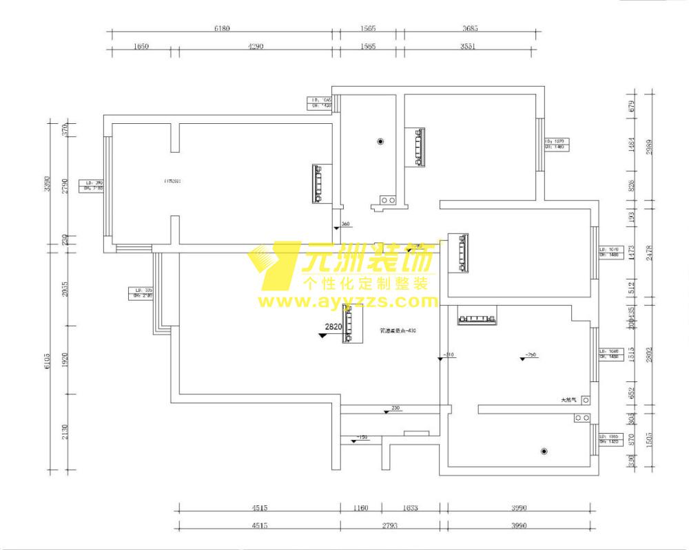 1单元802室140平米