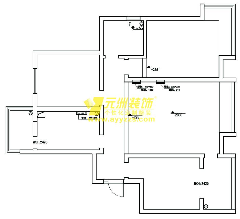 1单元701室·128平米
