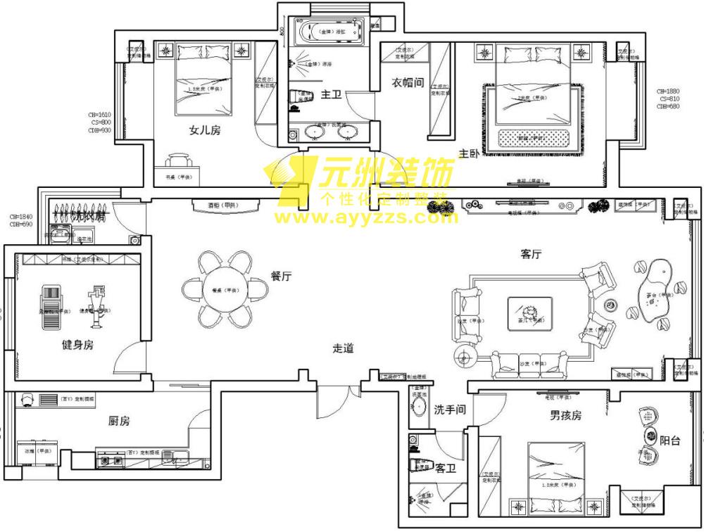 4单元2302室·149平米