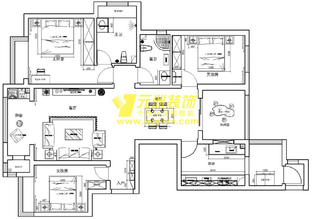 1单元2902室·135平米