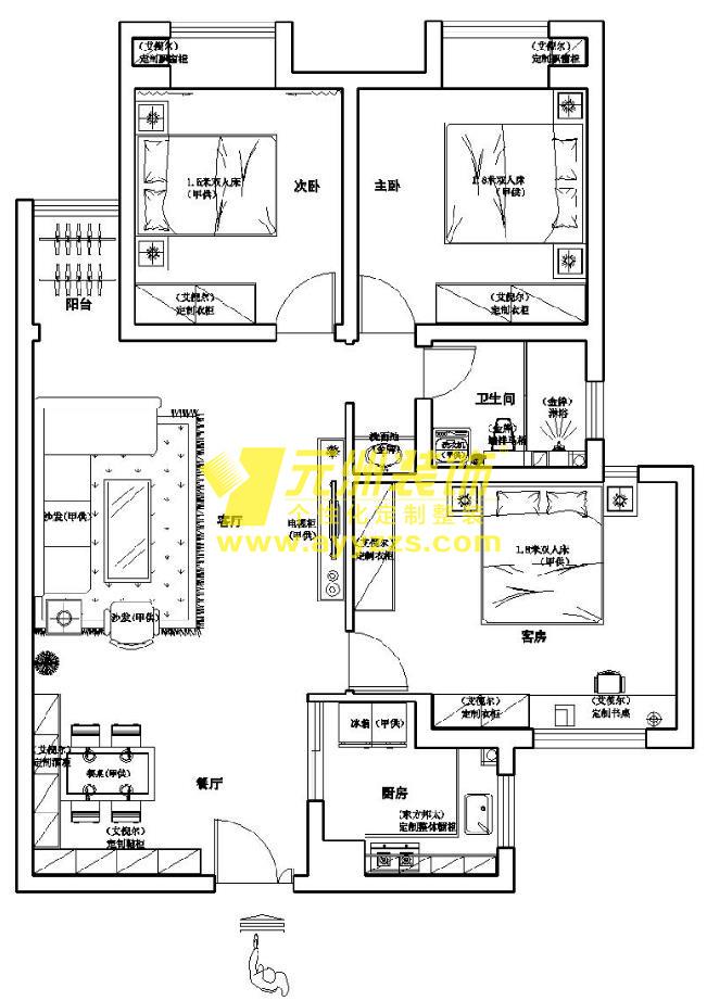1单元2703室·120平米
