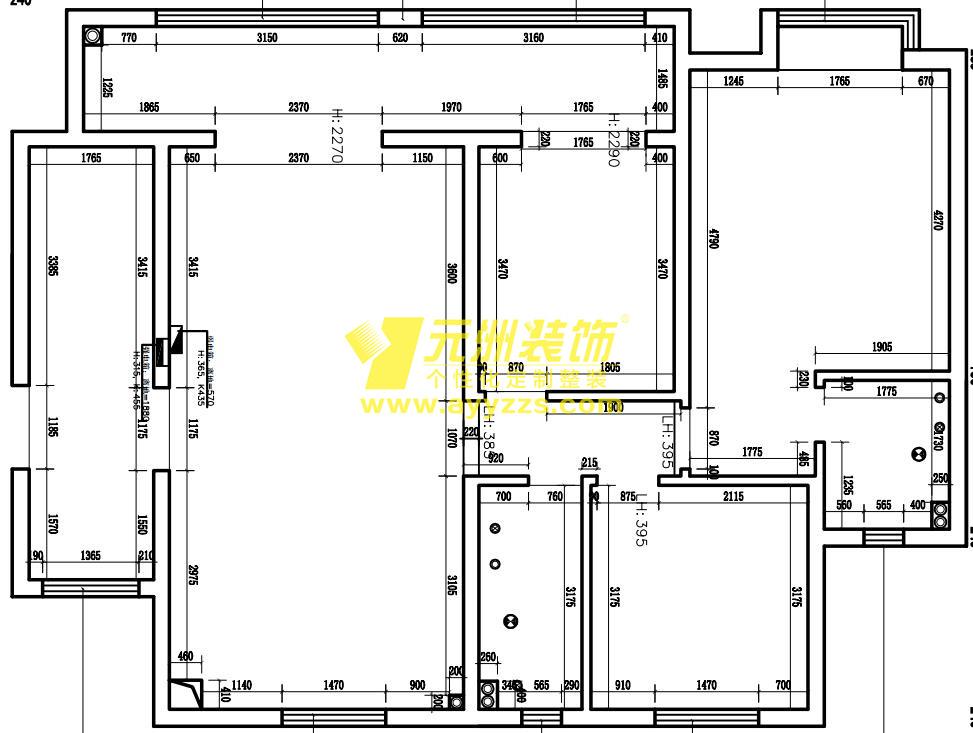 1单元1203室·140平米