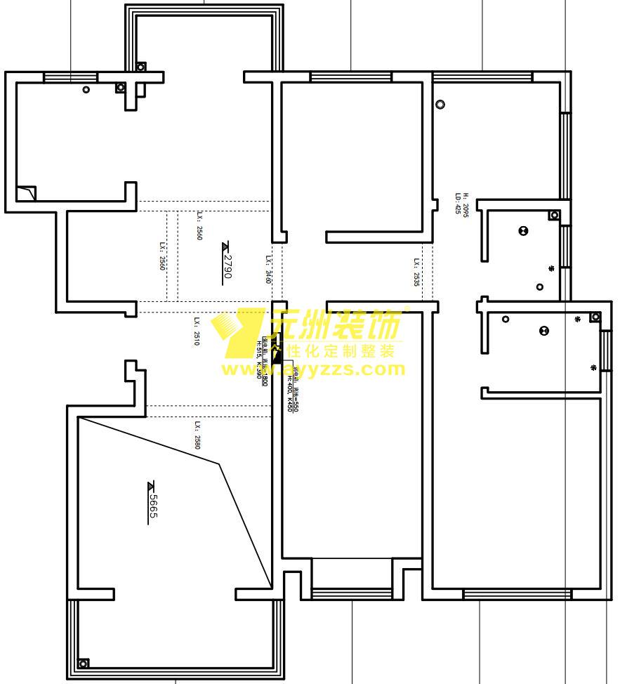 2单元701室·260平米