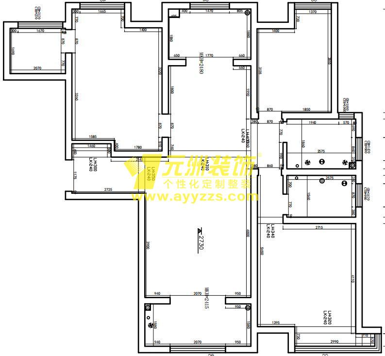 1单元301室·126平米