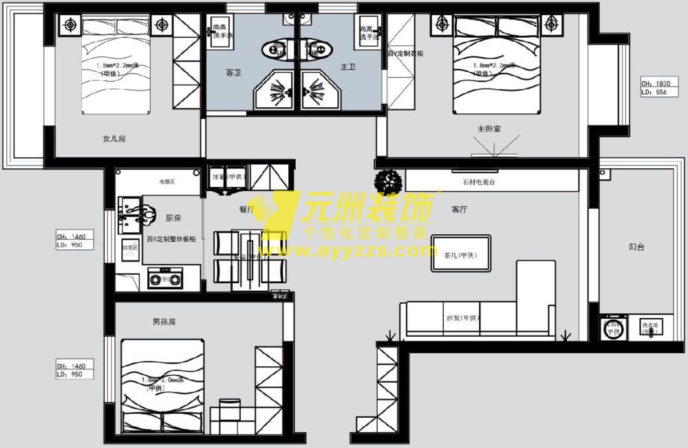 3单元501室·139平米