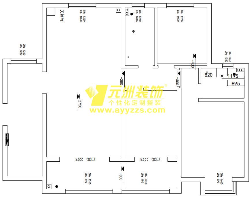 1单元1101室·135平米